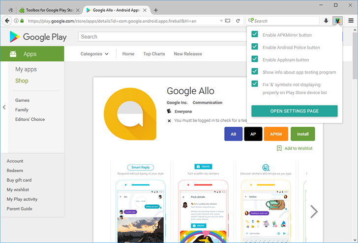 Toolbox for Google Play Store, our browser extension, is now