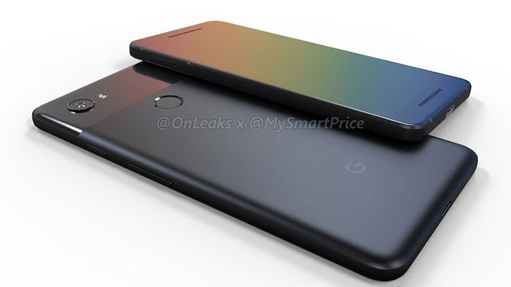 Want some 3D renders of the Google Pixel 2 and Pixel XL 2? Here you go