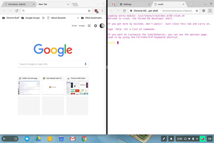 Update now in dev channel as flag google adds split screen over the past year or two weve seen a rise of 2 in 1 chromebooks like the asus flip lineup and samsungs chromebook pluspro ccuart Images