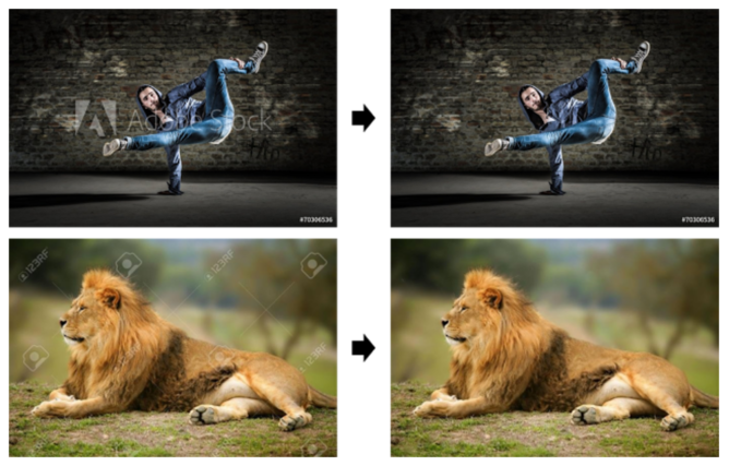 Google figured out how to flawlessly remove stock-photo watermarks