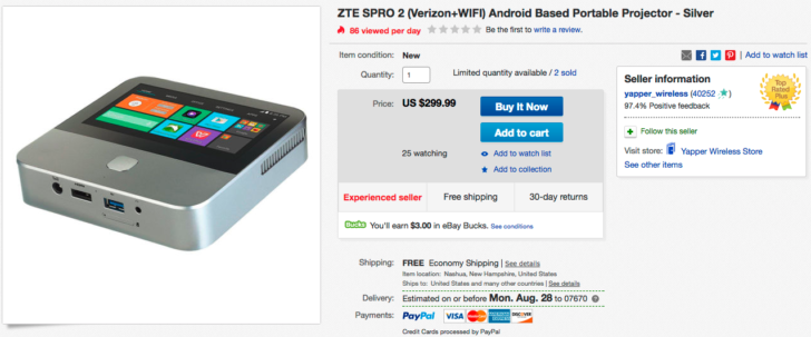 also allows zte spro 2 price Step think the