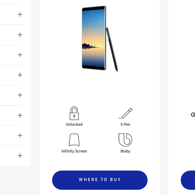 Samsung Galaxy Note 8 Accidentally Listed on Samsung's US Store