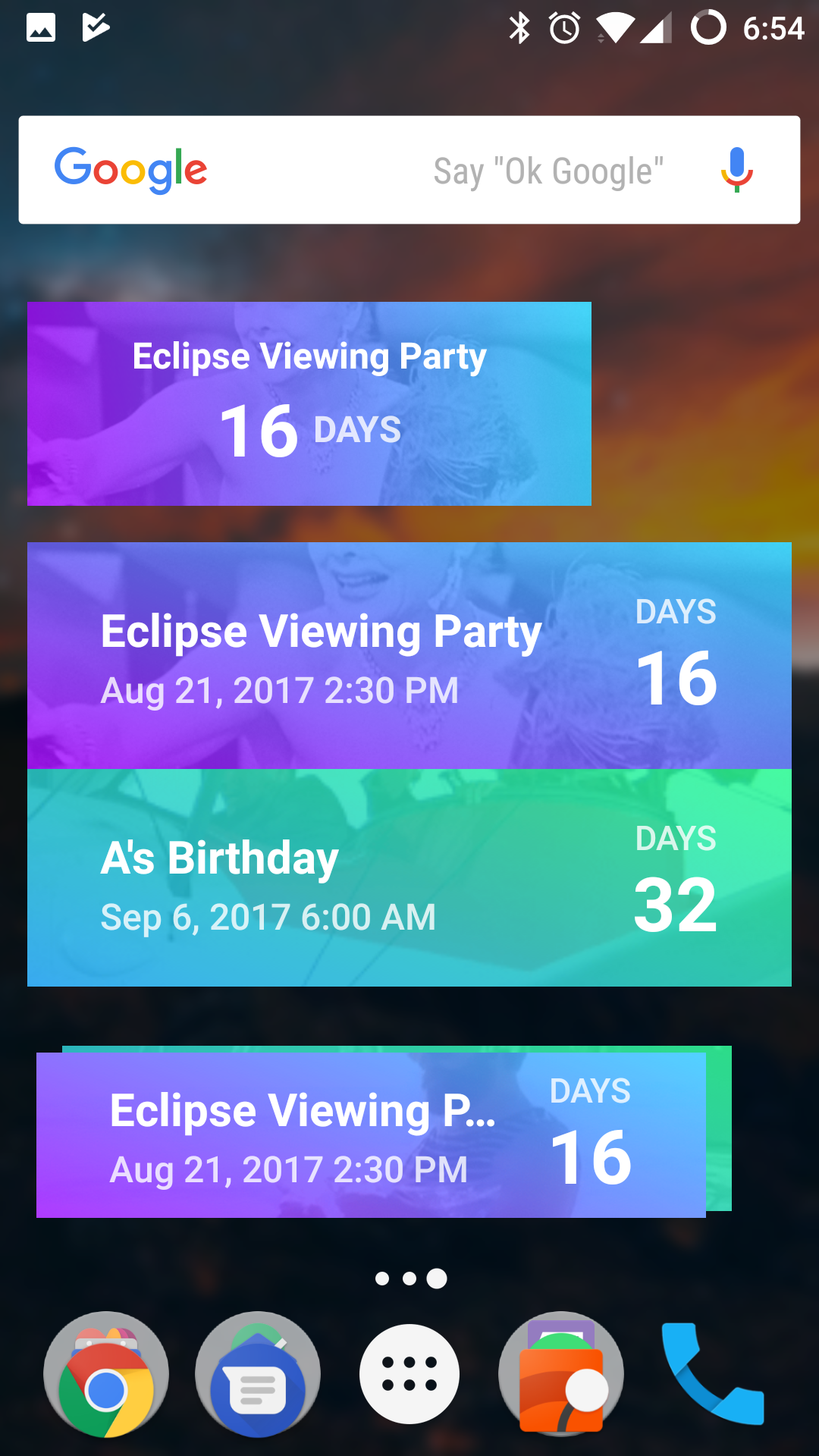 Sam Rustons New App Hurry Is A Beautiful Countdown Timer For Events