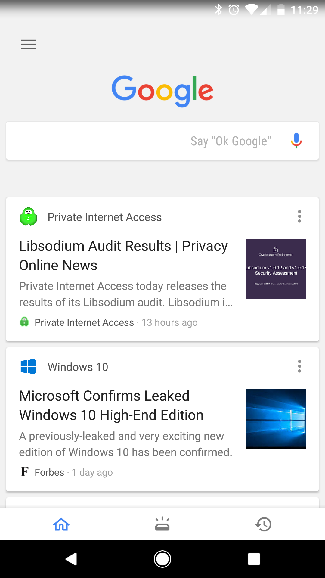 Google is rolling out the tabbed Google app interface to