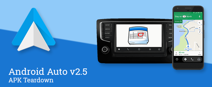 android auto v2 5 prepares to offer navigation cards based