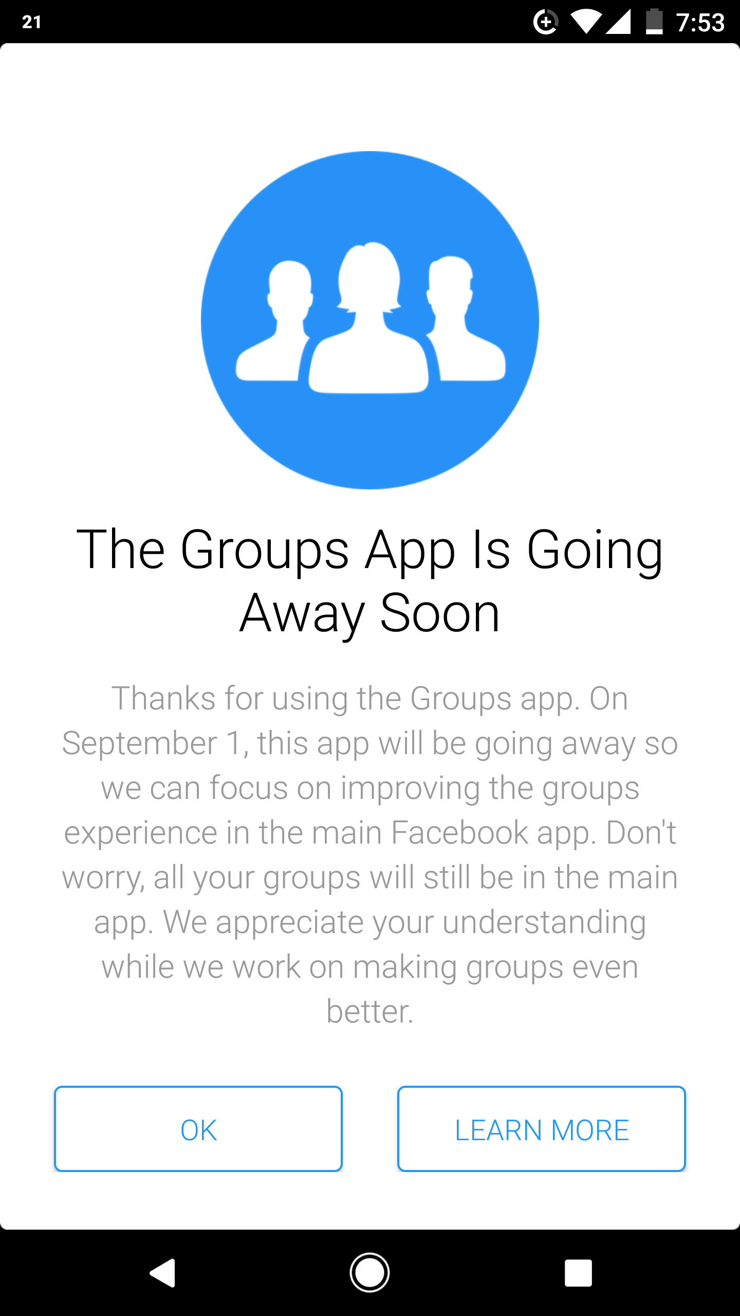 Facebook Says Goodbye To The Groups App On September 1