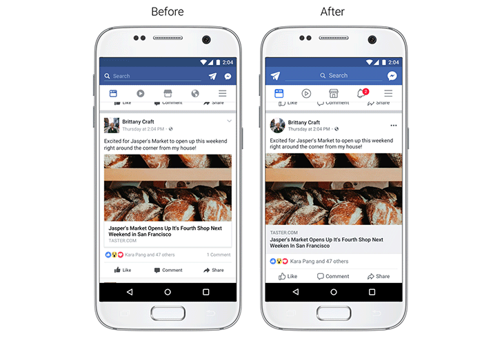Facebook introduces design improvements to News Feed for better navigation