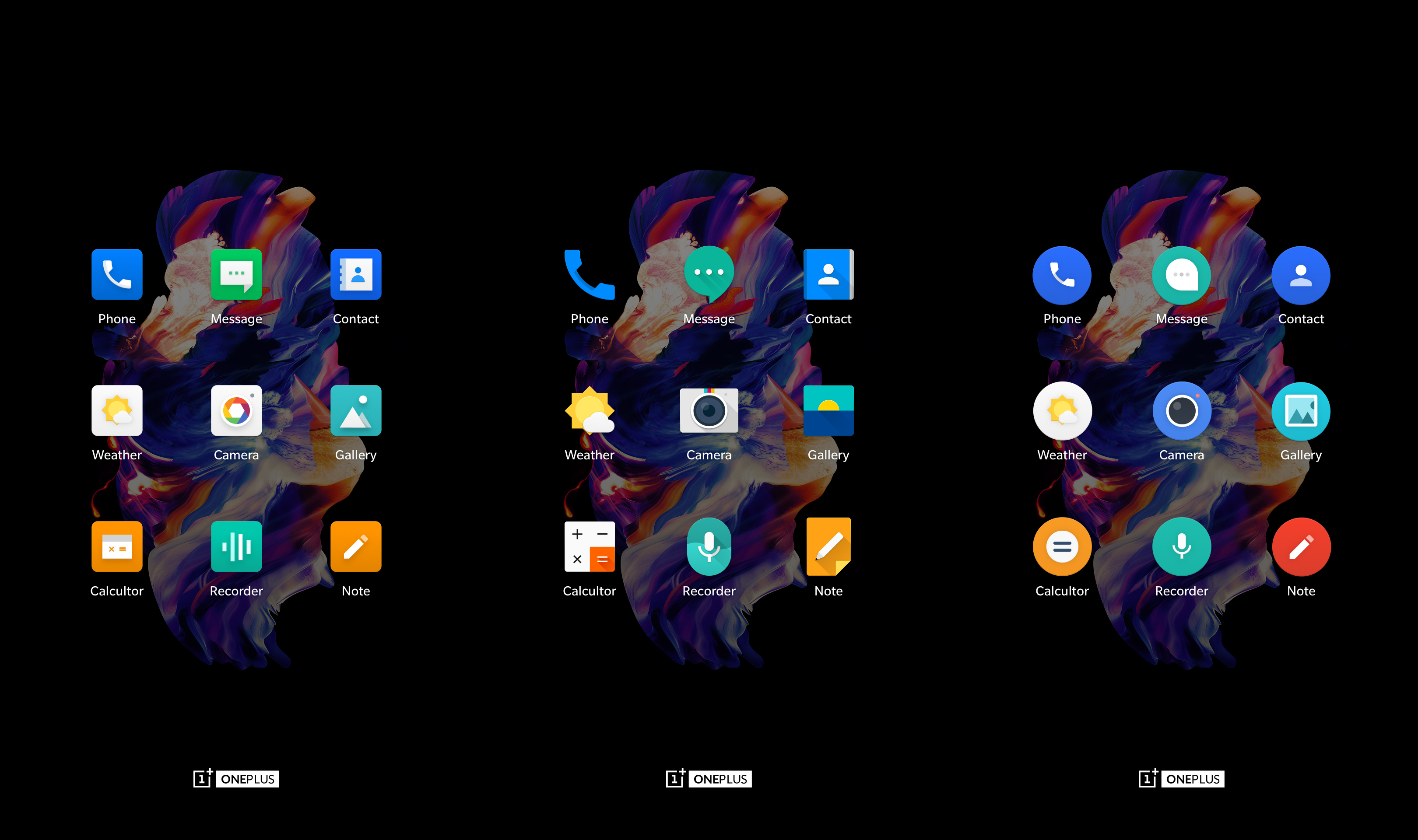 OnePlus drops 3 icon packs into the Play Store, but only for