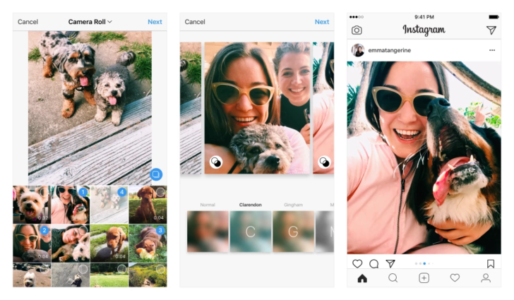 Share portrait and landscape shots in Instagram galleries