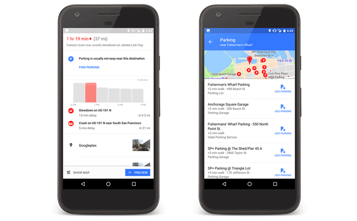 Google Maps makes it easier to find parking with your phone
