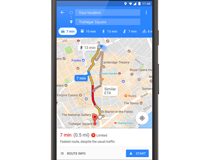Google Maps brings parking difficulty feature to Vancouver