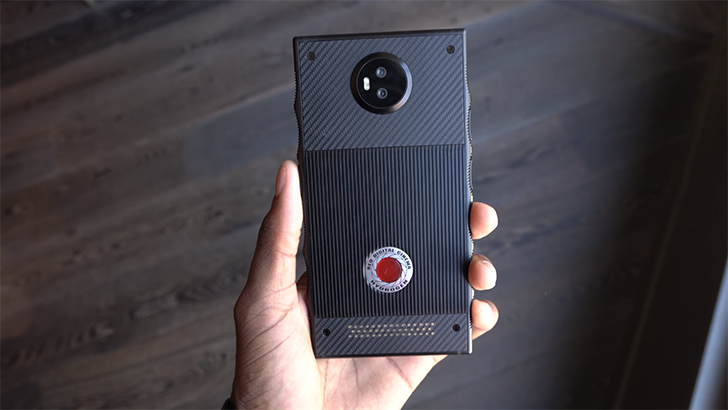 Prototype RED Hydrogen One handled on camera