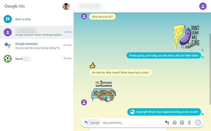 Allo for Web Launch Sure Seems Imminent