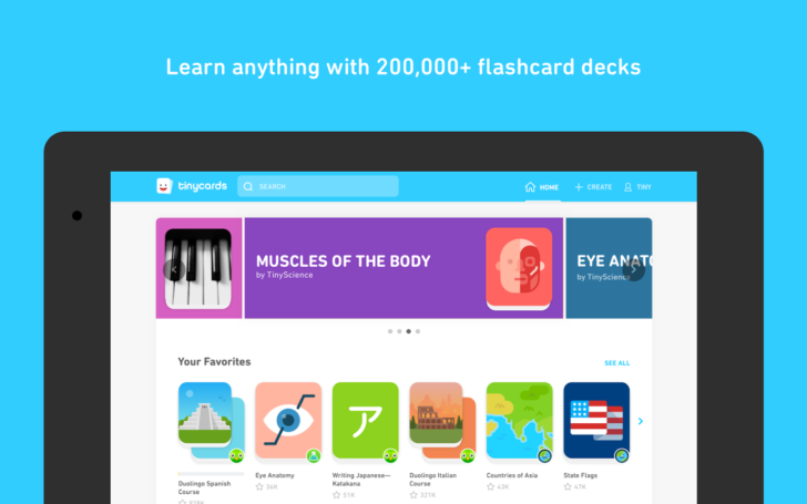 Duolingo releases its tinycards flashcards app on the play store you may know duolingo as the company who makes one of the funnest language learning apps but a year ago it also released tinycards a flashcard app urtaz Choice Image