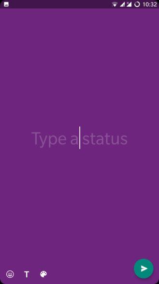 Whatsapp coloured text status updates