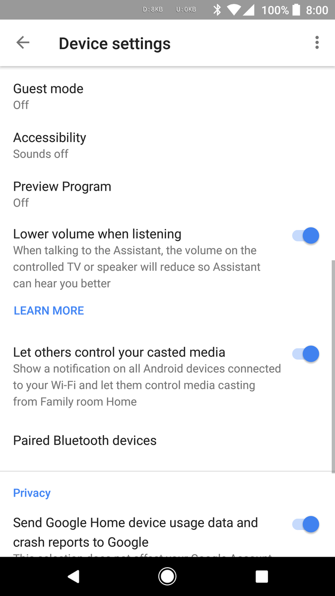 Update: It's live] Google Home will soon lower volume of