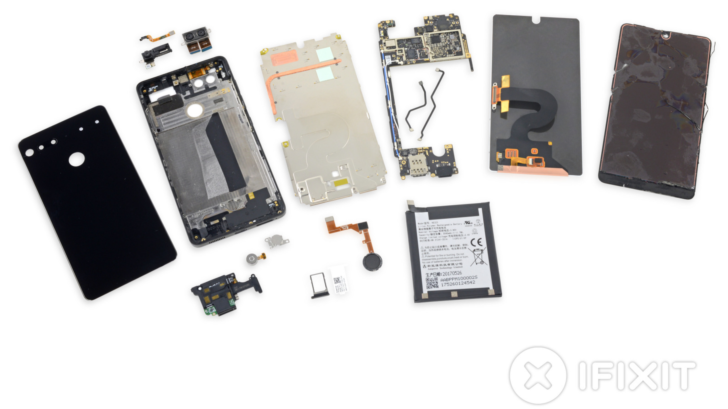 Essential Phone Teardown Reveals an Extremely Hard to Repair Design: iFixit