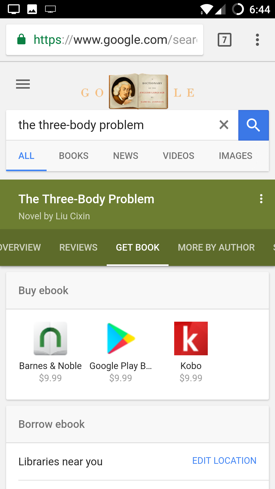 how to search for ebooks on google