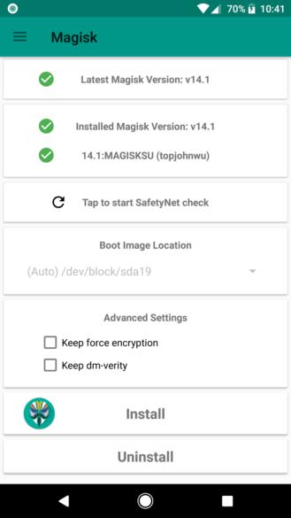 nexus2cee Screenshot 20170927 224104 329x585 - 14.2 bugfix and download] Magisk beta v14.1 roots OTA