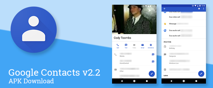 Google Contacts v2 2 updates the contact pages with quick