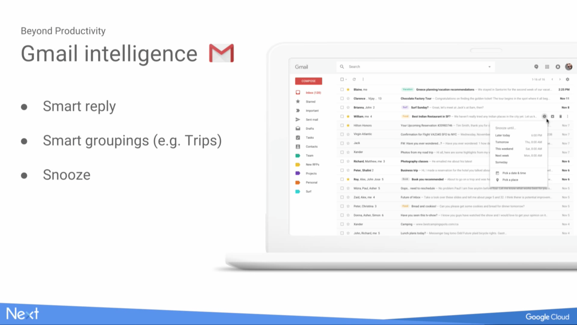 Gmail is working on snooze, smart grouping, and a Material