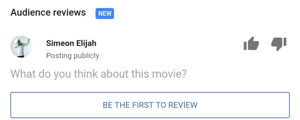 Google starts asking for audience reviews in movie search