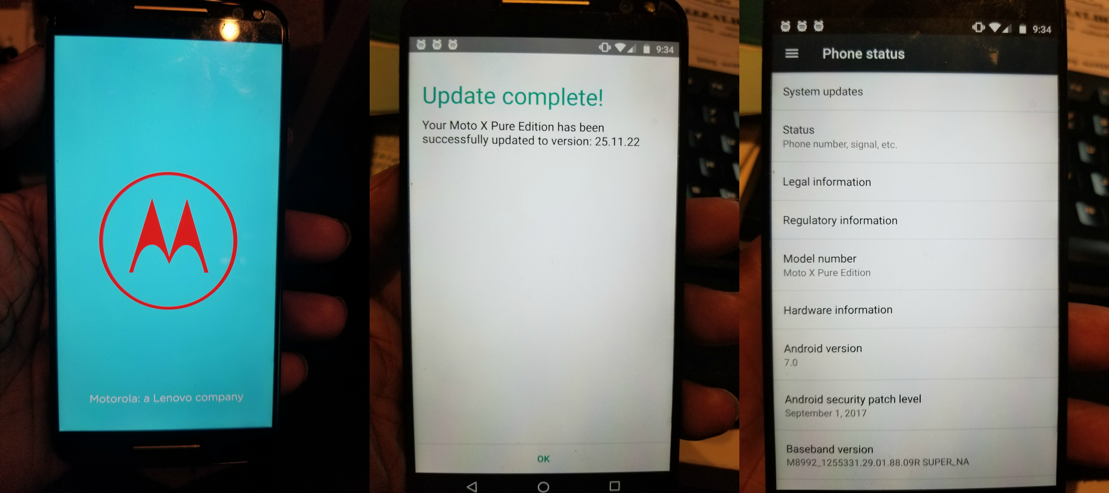 [Update: Rolling out to everyone] Moto X Pure Edition finally gets Android 7.0 Nougat update in US after a year of zero updates
