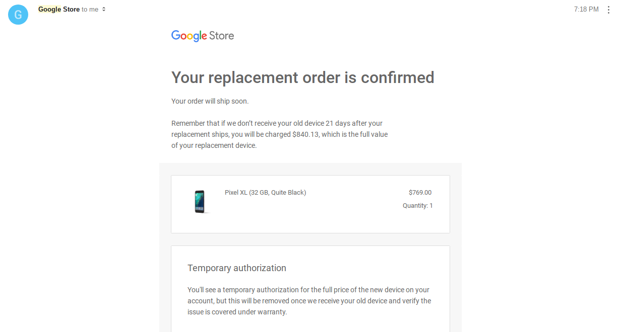 Google is offering Nexus 6P owners a Pixel XL as a warranty