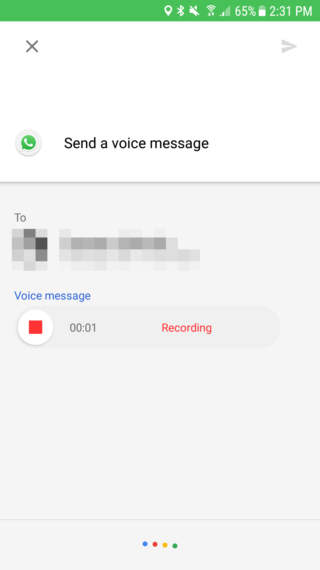 Neat ok google send voice message records and sends whatsapp all in all you can say send a voice message m4hsunfo Choice Image