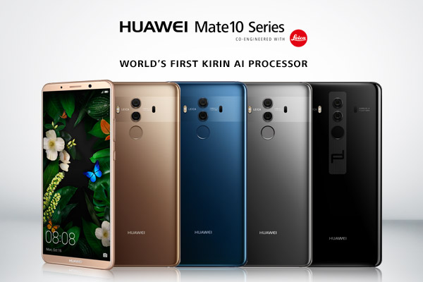 Huawei announces Mate 10 and Mate 10 Pro, with kirin 970 AI chips, minimal bezels, and dual cameras