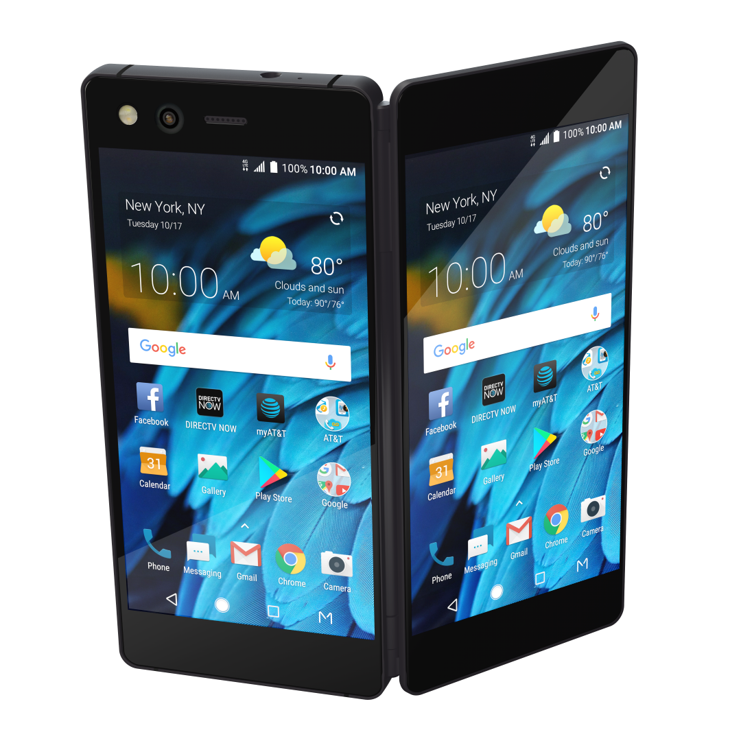 ZTE introduced the original folding smartphone Axon M