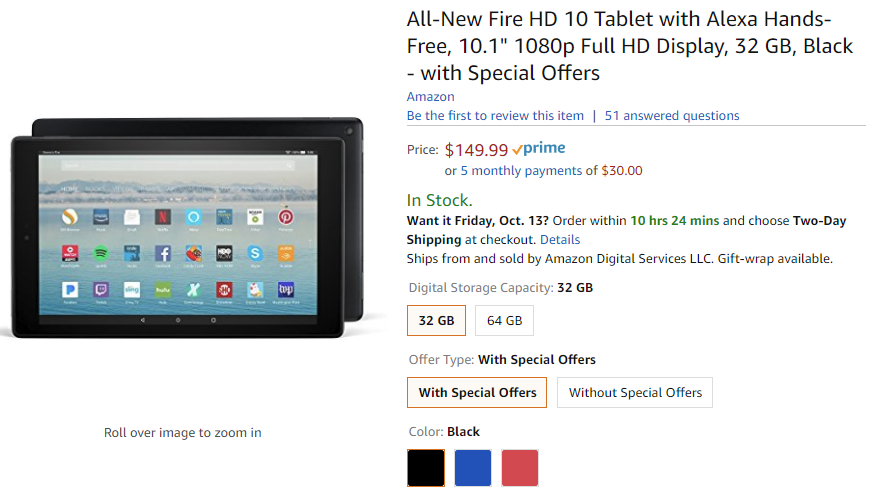 Awe Inspiring Amazons Updated Fire Hd 10 Tablet Is Available Today Best Image Libraries Counlowcountryjoecom