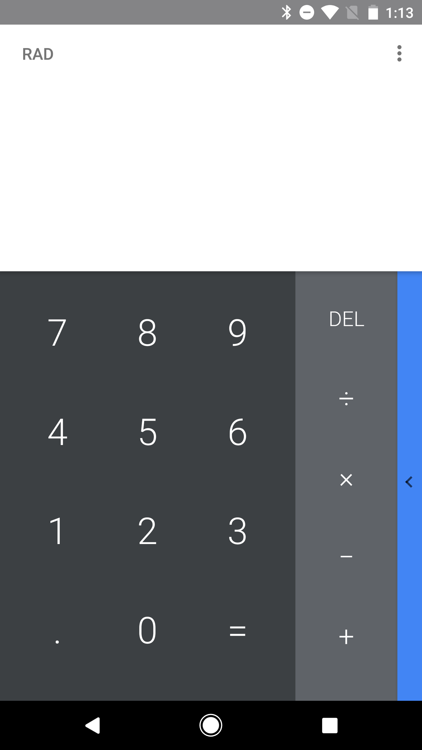 how to change from rad to deg calculator