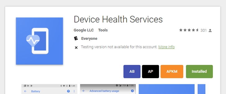 Google uploads its Device Health Services system app to the