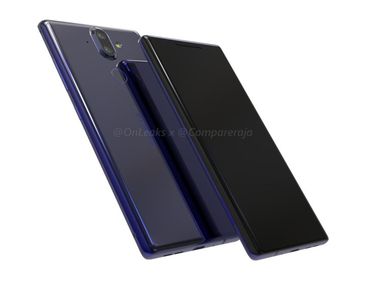 Nokia 9 renders with curved glass and bezel-less design surface online