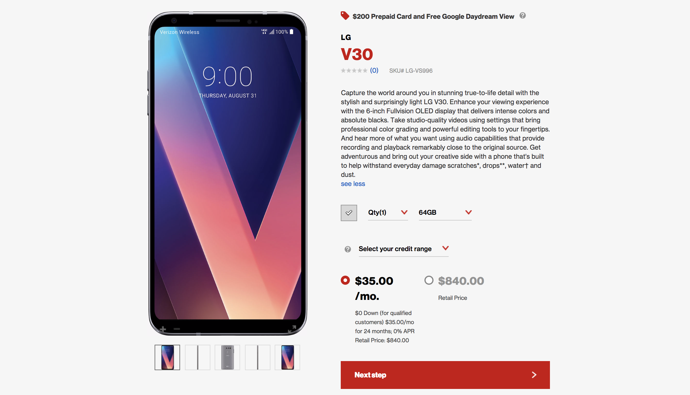 Update: T-Mobile also has it now] LG V30 is now available to order