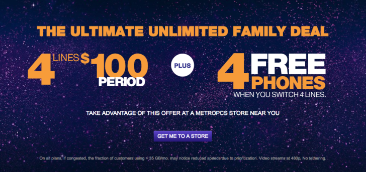 MetroPCS is offering four lines with unlimited LTE for ...