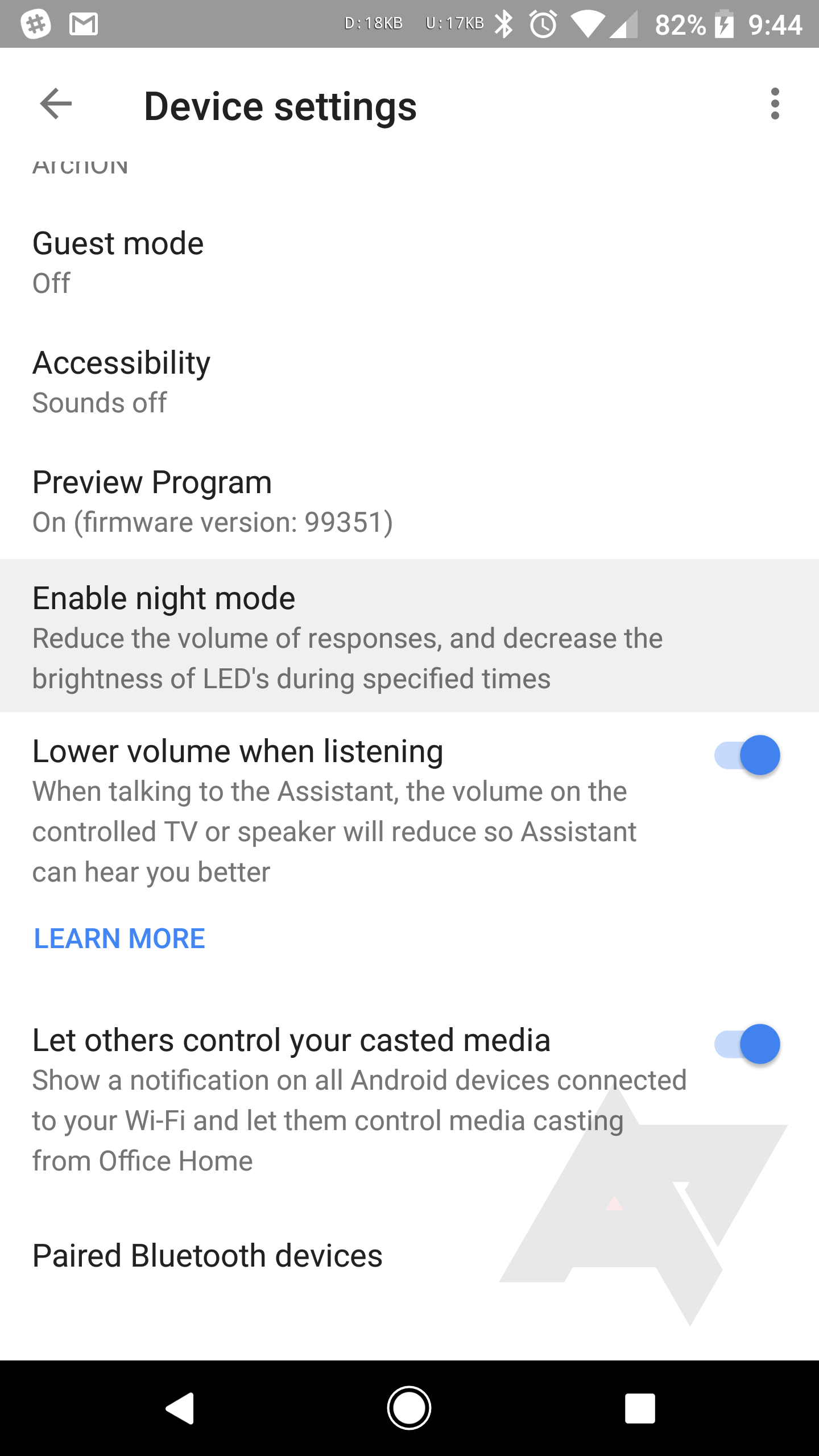 Google Home's new Night Mode will keep it from yelling at