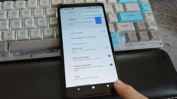 Surprise: The Google Pixel 2 has a hidden menu button on its navigation bar