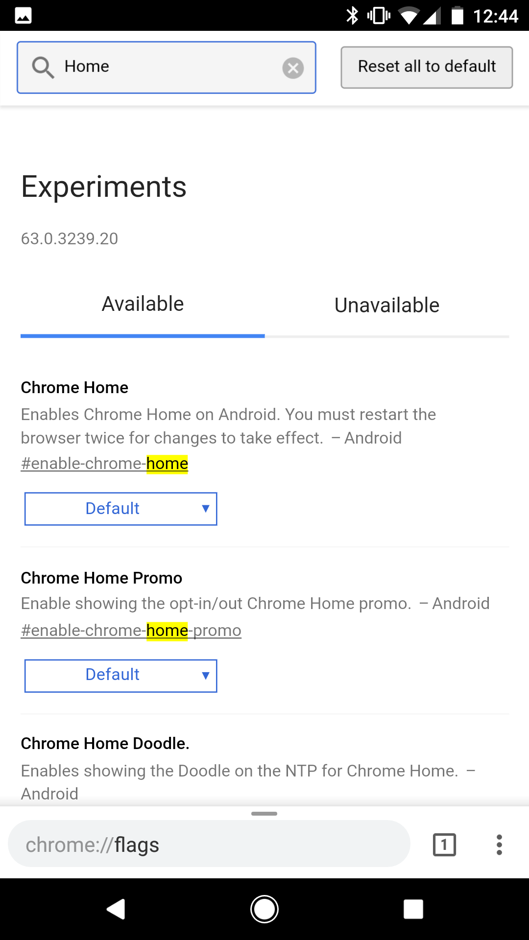 Chrome Beta 63 adds new flags page, changes to Chrome Home UI, and