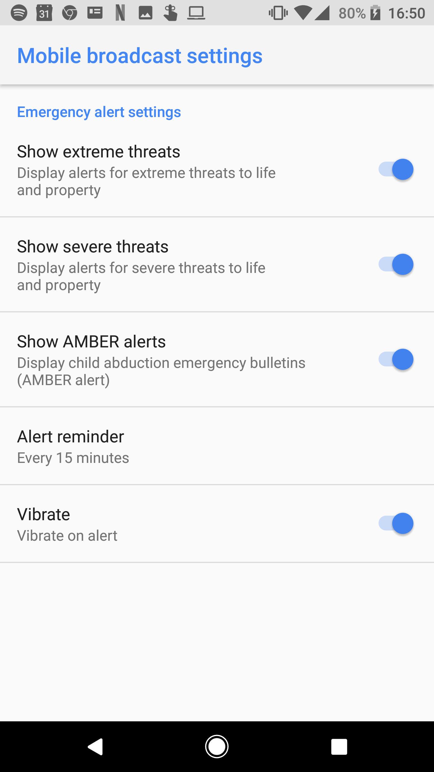 Android 8 1 feature spotlight: Emergency alerts get a