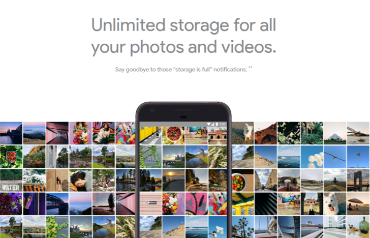 android unlimited photo storage