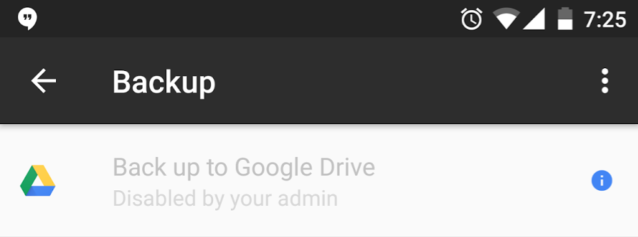 how to backup to google drive android