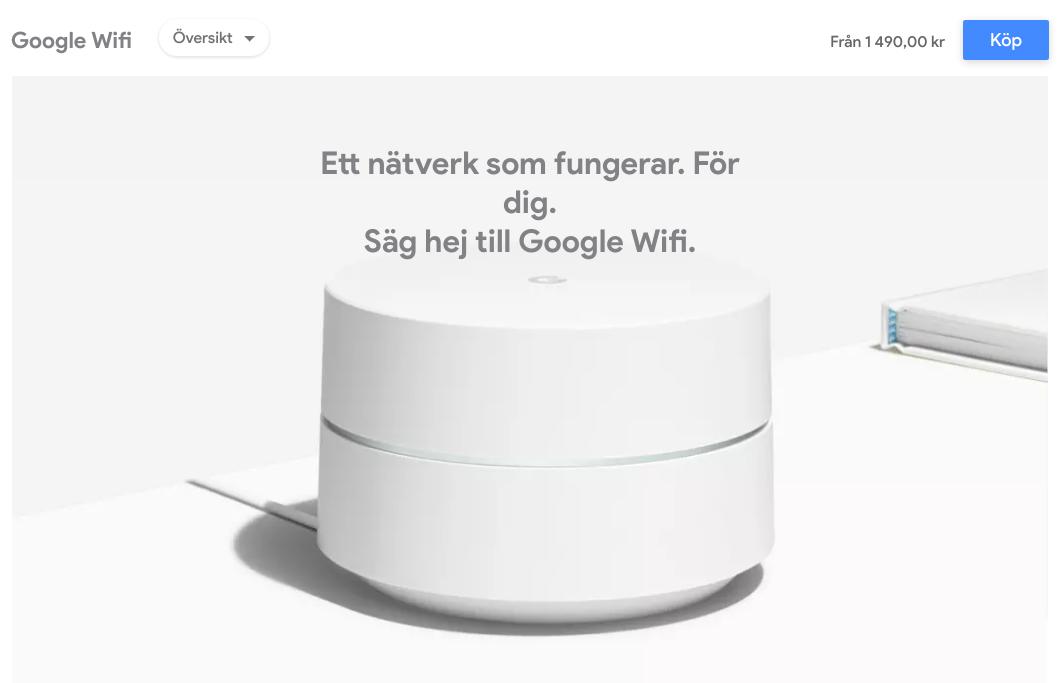 google wifi sverige
