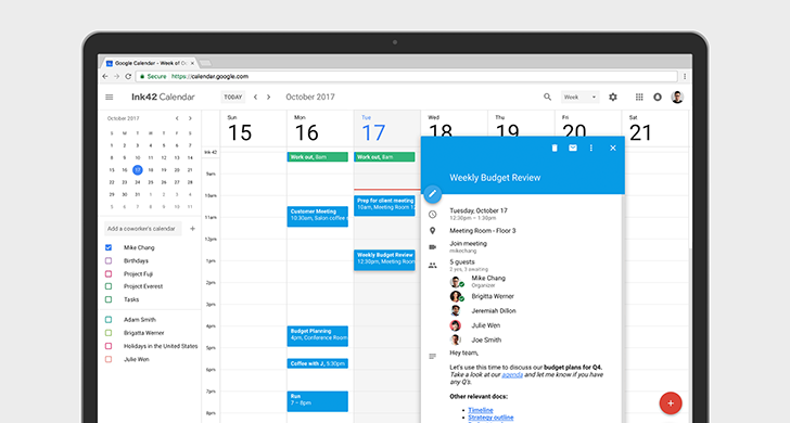 Google Calendar on the web adds Material Design and new features