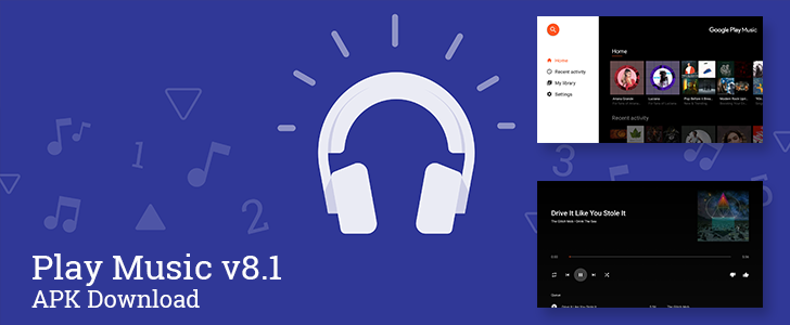 Play Music v8 1 appears with dedicated Android TV app and a