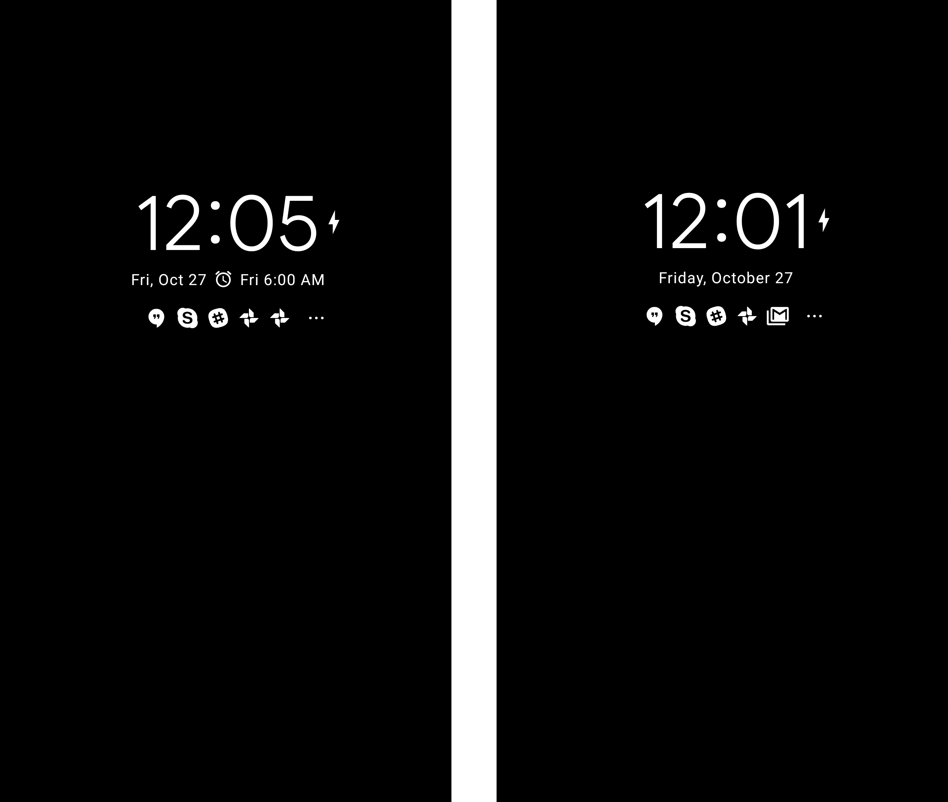 it was a very minimal interface rather than being a monochrome version of the lock screen