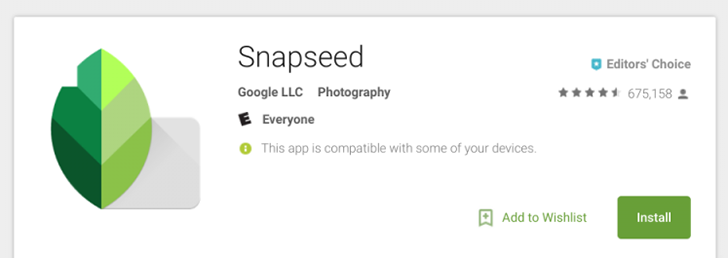 Snapseed passes 50 million downloads on the Play Store