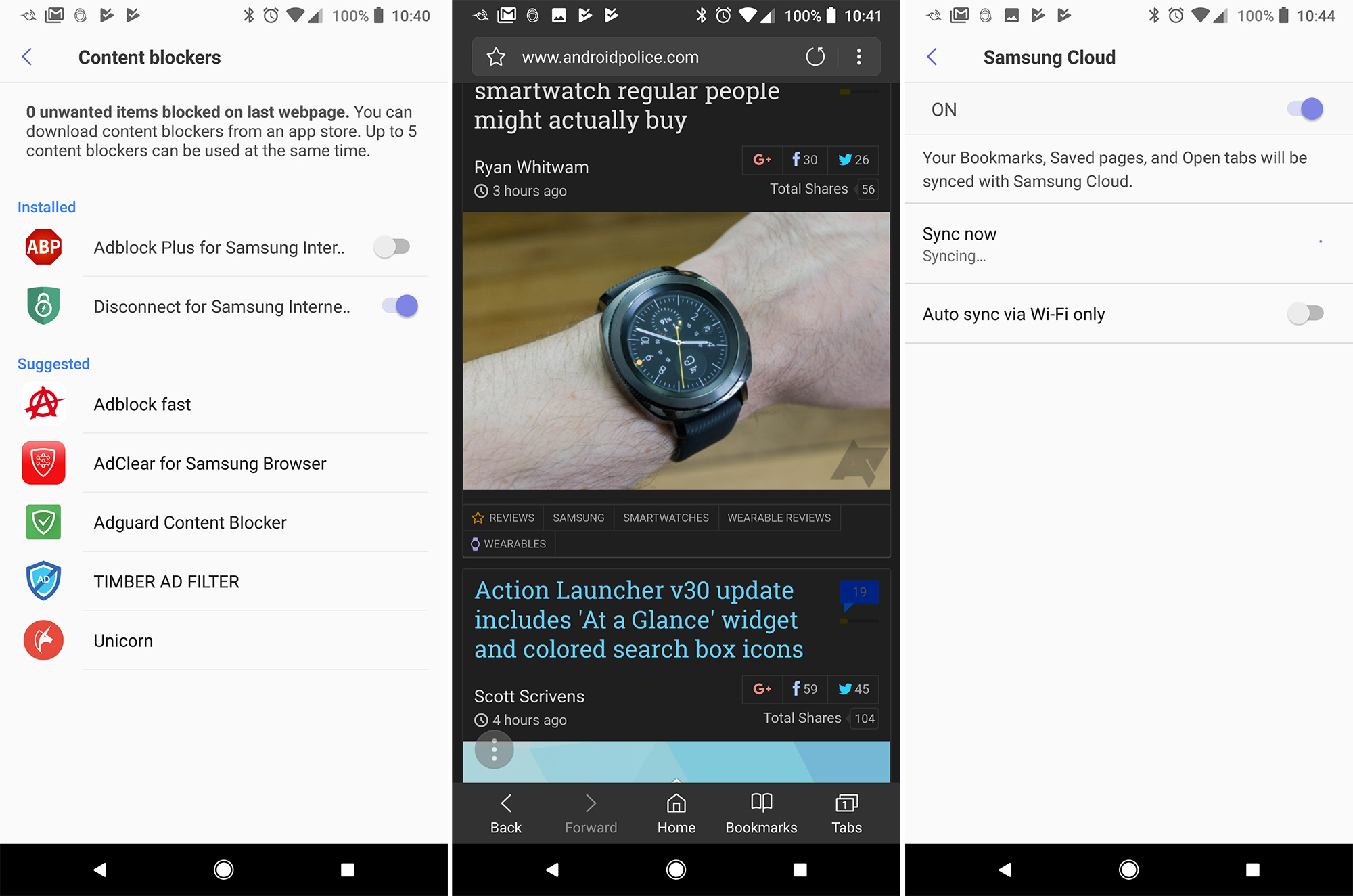 Samsung Internet v6 2 now available with night mode