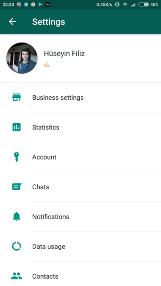 nexus2cee whatsapp business settings 329x585 - Android app, landline number registration, and multiple accounts options